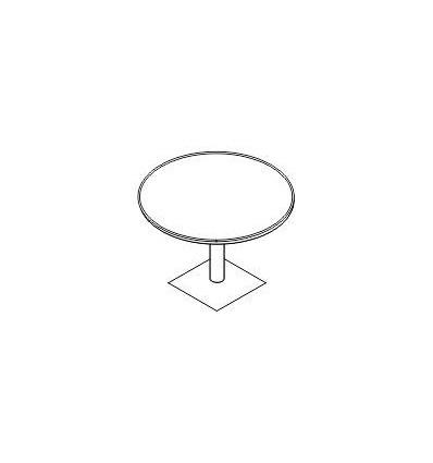 Tavolo riunione rotondo con gamba metallo