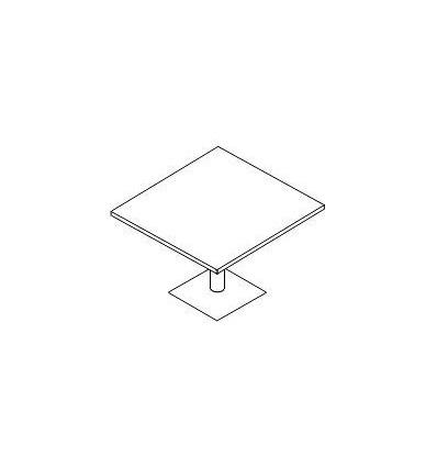 Tavolo riunione quadrato con gamba metallo