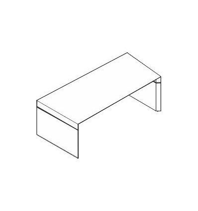 Scrivania con piano e struttura in legno