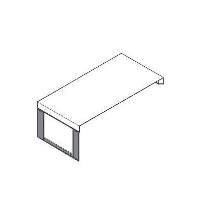 Scrivania da appoggio con piano in legno e struttura in metallo