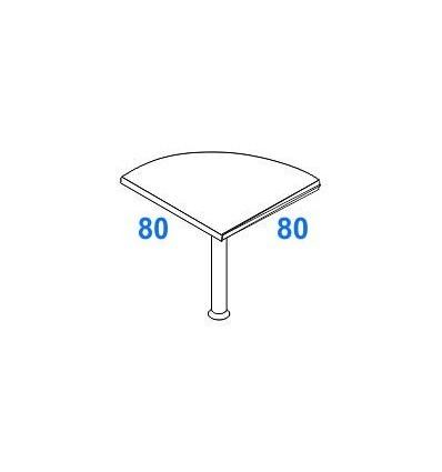Angolo di raccordo 90° per scrivanie P. 80 + 80
