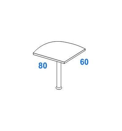 Angolo di raccordo 90° per scrivanie P. 80 + 60