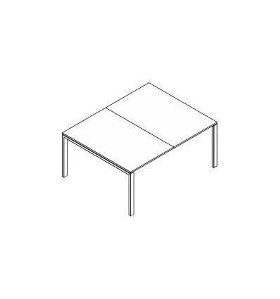 Tavolo riunione gambe singole